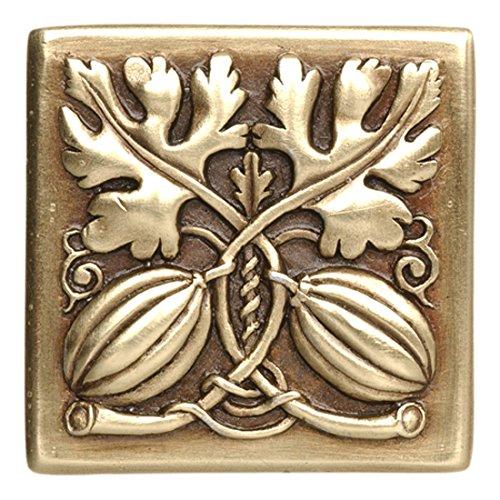 Notting Hill Decorative Hardware Autumn Squash Knob, Antique Brass
