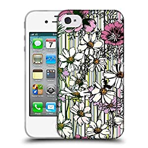 Super Galaxy Coque de Protection TPU Silicone Case pour // V00002736 Patrón de flores sin fisuras // Apple iPhone 4 4S 4G