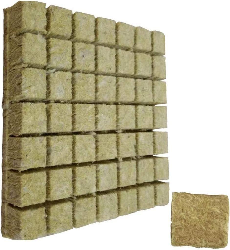 LjzlSxMF Rockwool Crecer Cubos Cultivo hidropónico Cultivo sin Suelo Comprimir Base Sustrato para Rockwool Arranque Tapones 50pcs