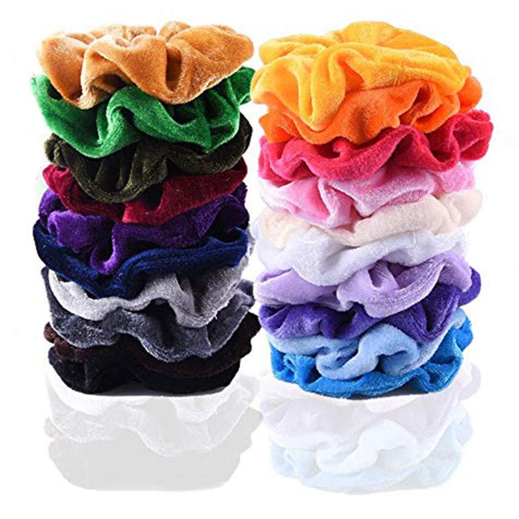 Lady Hair Scrunchies Velvet Elastics Hair Ties Scrunchy Bands Ties Ropes Gift Sl