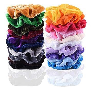 20 Pcs Hair Scrunchies Velvet Elastic Hair Bands Scrunchy Hair Ties Ropes