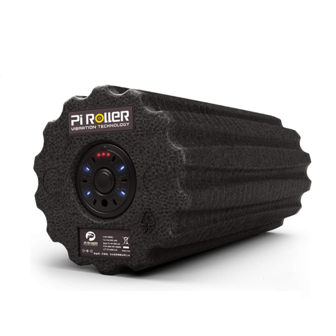 Longlong ヨガフォームローラーピラティスフィットネスヨガコラム電動振動マッサージブロック4ギア位置調整可能なマッサージ緩和筋肉疲労 (色 : 黒)  黒 B07SKNW9R7