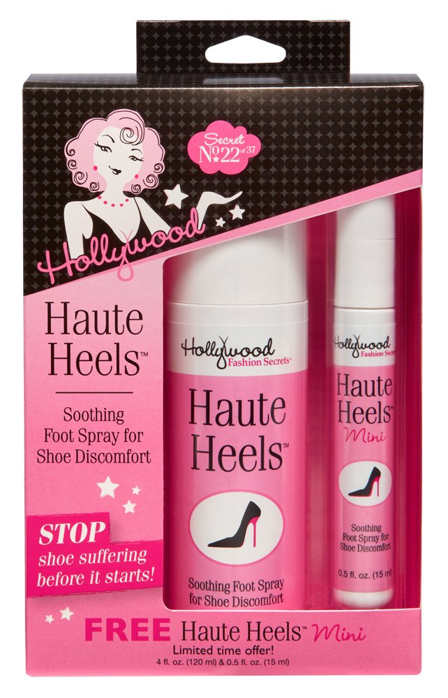 Hollywood Fashion Secrets Haute Heels foot care, works for all types of shoes, Value Pack 4 oz & 0.5 oz by Hollywood Fashion Secrets