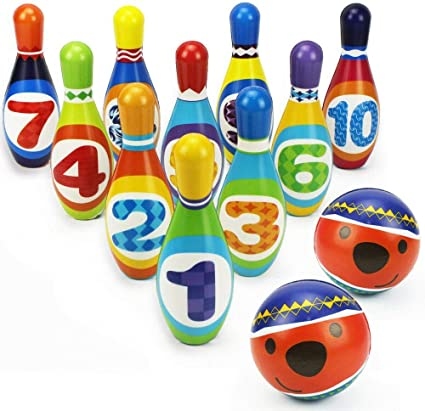 ,gift toys for 2,3,4,5 year old boy girl birthday gift Kids Bowling Play Set