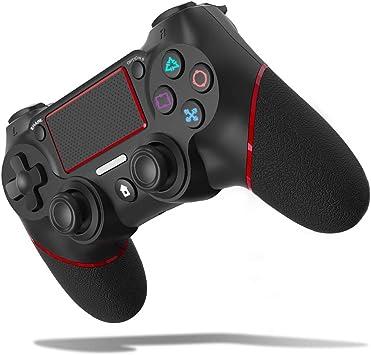 JOYSKY Mando Inalámbrico para PS4,Controlador De Juegos Inalámbrico con Control De Vibración Dual del Motor De Doble Palanca para Playstation 4 / Playstation 3 (Rojo): Amazon.es: Electrónica