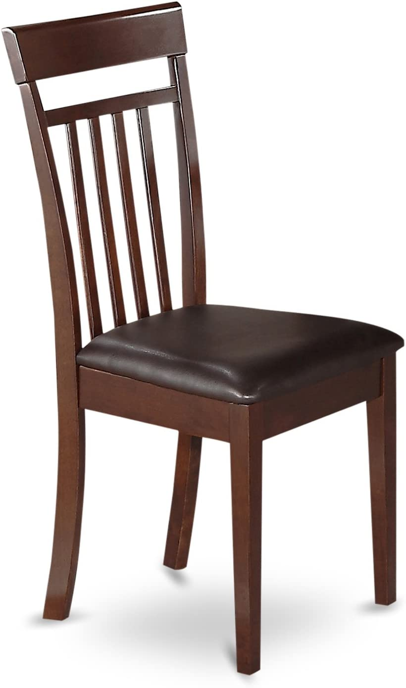 3 PC Table and chair set with a Dining Table and 2 Kitchen Chairs in Mahogany