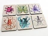 Octopus Tentacles Drink Coasters 3.5 inch neoprene