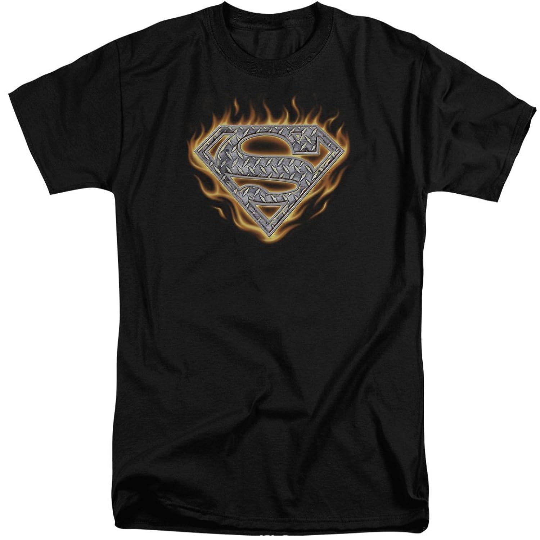 Superman Men's Steel Fire Shield Tall T-Shirt