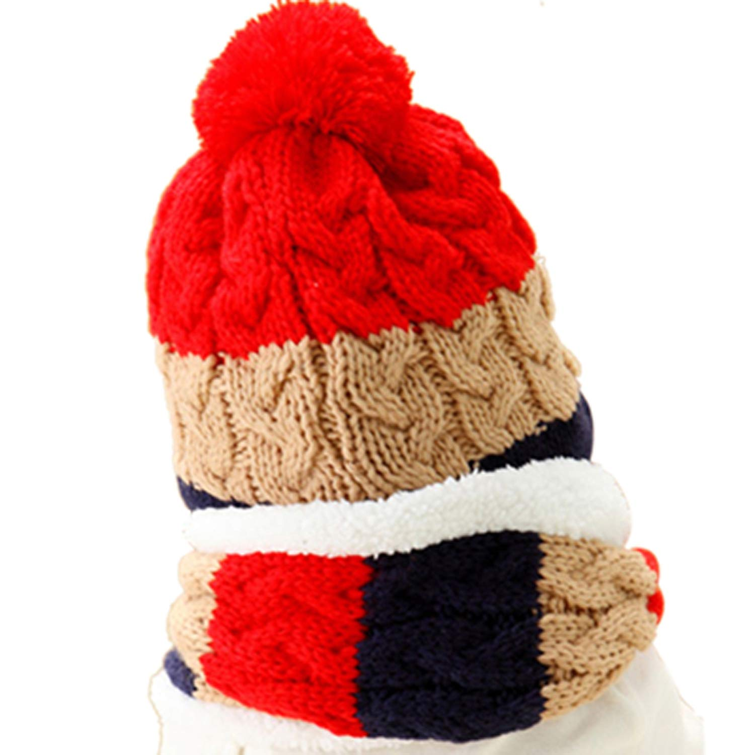 Baby Winter Hat and Scarf Set Very Warm Infant Beanie Cap for Children Boys Girl
