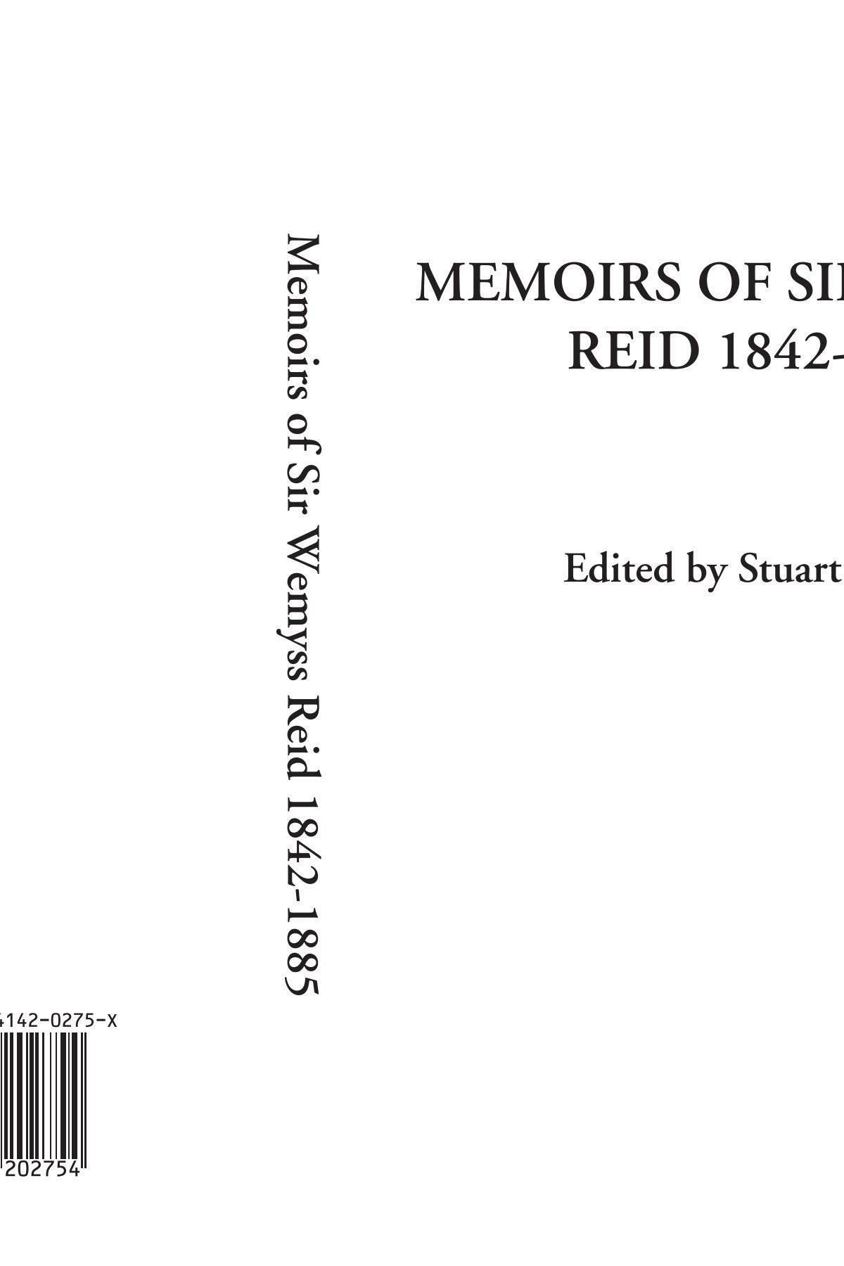 Memoirs of Sir Wemyss Reid 1842-1885 pdf epub