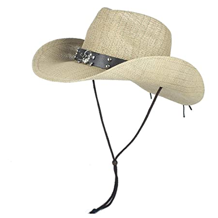 NTFZ Sombreros y Gorras Sombreros de Vaquero Occidentales de Paja ...