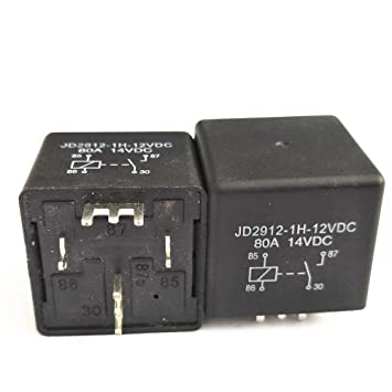 shenlang 2 unidades Coche Relé 4 pines SPST soldadura soldadura conectado pines 12 V 80 A Amp Auto PCB Junta Módulo de control: Amazon.es: Coche y moto
