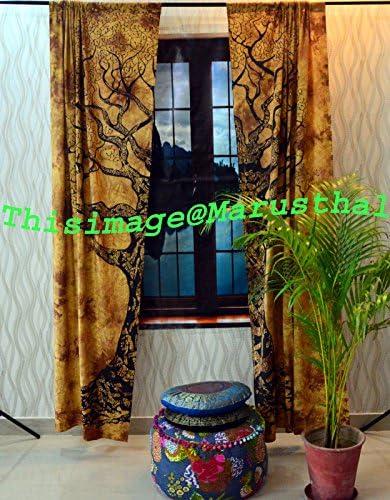 Tree of Life Door Window Curtains Drape Panel Hippie Valances Throw Tapestries