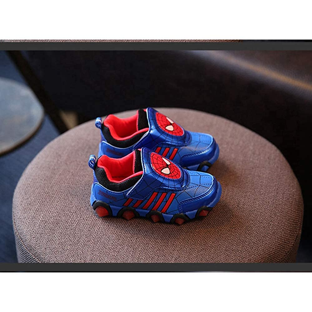 ANKIDS Fashion Boys Light-up Spiderman Led Sneaker