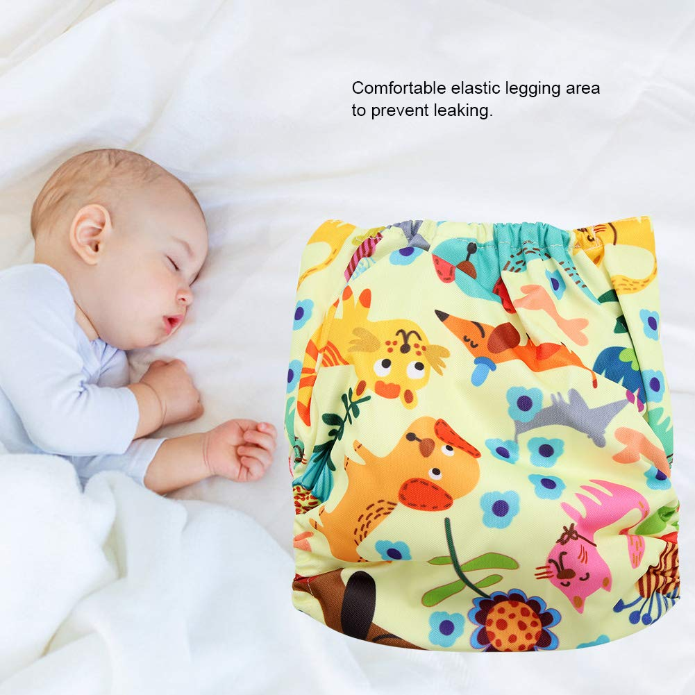 One Size Fit All A Calico Swim Diaper Baby Infant Snap Absorbent Washable Swimsuit Diaper Reusable Swim Nappy for Baby Toddlers Swimming Lessons