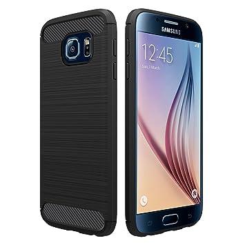 Simpeak Funda Compatible con Samsung Galaxy S6 (5,1 Pulgadas), Negro Silicona Fundas Compatible con Samsung S6 Carcasa Compatible con Galaxy S6 Case
