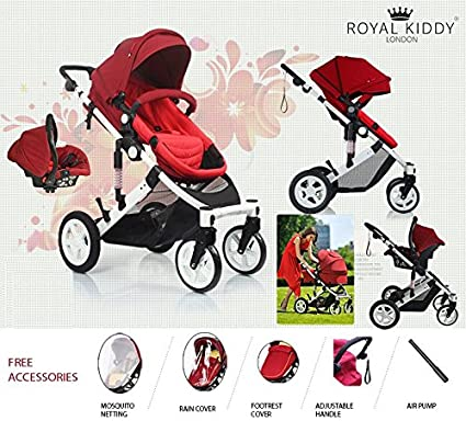Royal Kiddy London © Carrito De Bebe Carro Combi Capazo Silla De Paseo 3 En 1
