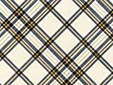 Pack of 1, Pristine Plaid 18'' x 833' Full Ream Roll Gift Wrap for Holiday, Party, Kids' Birthday, Wedding & Special Occasion Packaging