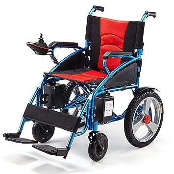 Amazon.com: L&QQ Silla de ruedas eléctrica plegable, ligera ...