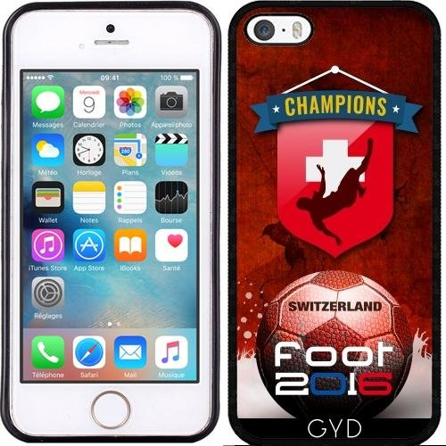 Coque pour Iphone SE - Pied 2016 Suisse by comlaprom