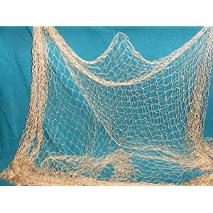 6 X 9 Ft Fishing Net with Lobster, Starfish, Seashells, Rope and Floats