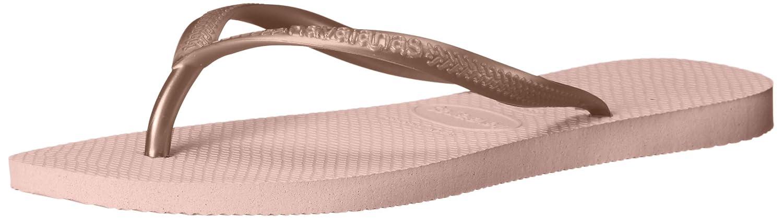 Havaianas Unisex Kids Slim Holiday Summer Toe Post Lightweight Flip Flops Ballet Rose 13