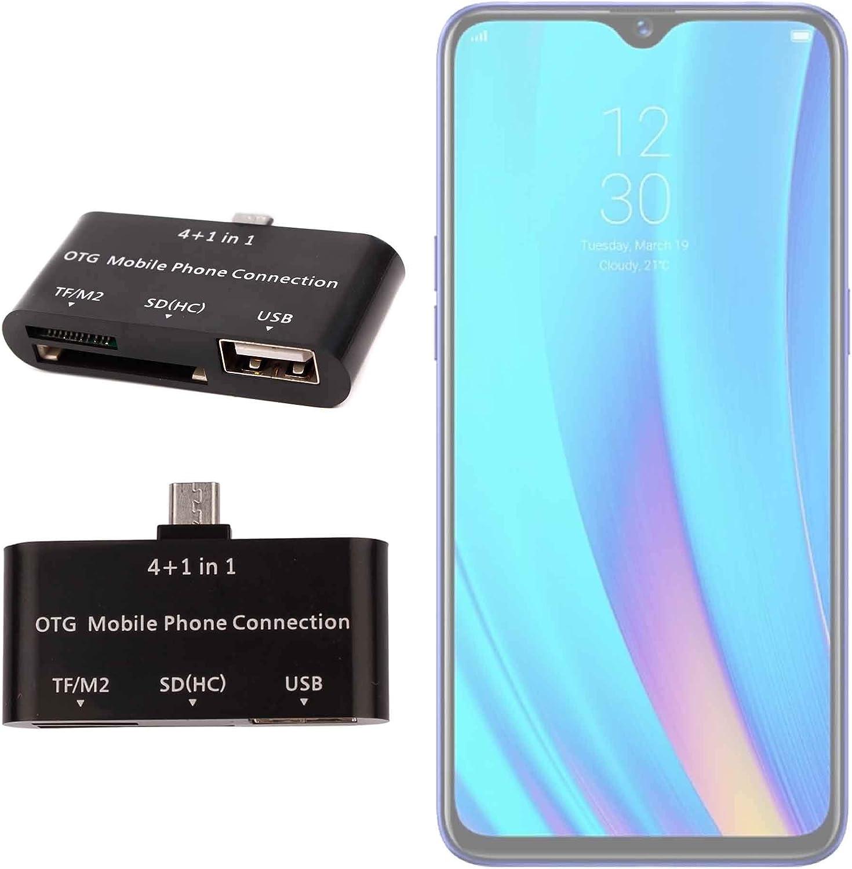 DURAGADGET Lector De Tarjetas para Smartphone Realme 3 Pro OTG 4 ...