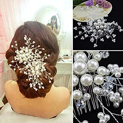 Wedding Hair Accessories Elegant Crystal Pearl Hair Clips Bridal Tiara Korea Hairpin Romantic Wedding Hair Jewelry Hair Pin Sl^White