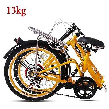 Grimk Bicicleta Plegable Unisex de aleación de 20 Pulgadas con ...