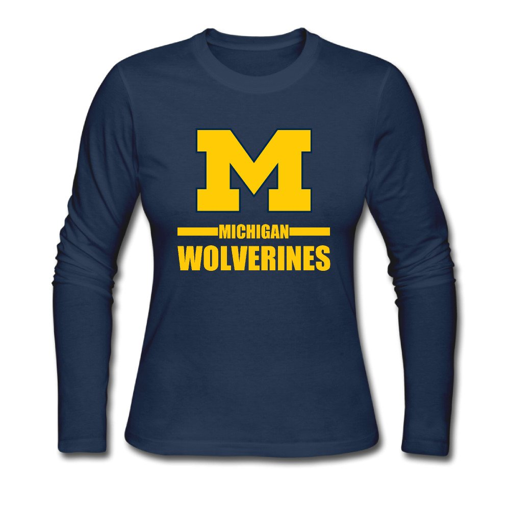 Michigan Wolverines Lady 100 Clothing Navy Shirts