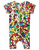 jelly bean cotton candy machine - Inchworm Alley - Jelly Beans - Unisex Romper Onesie, 100% Organic Cotton (6-12 Months)