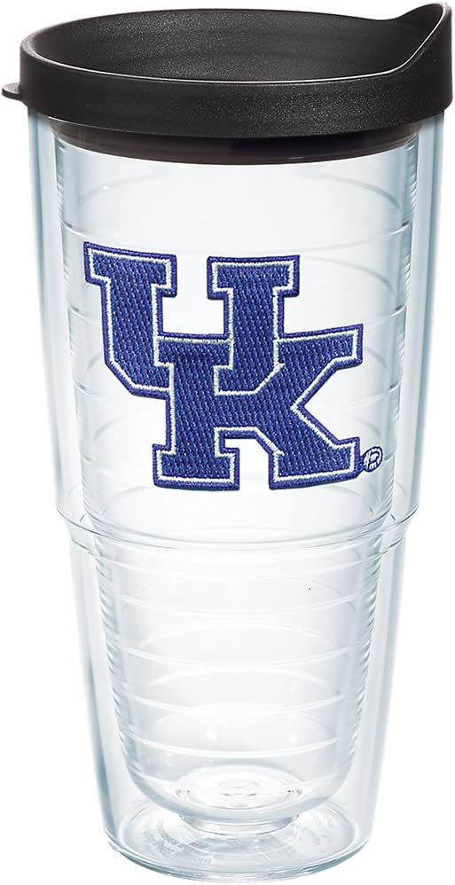 Tervis Kentucky Wildcats Logo Tumbler with Emblem and Black Lid 24oz, Clear