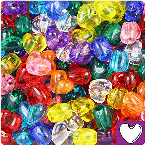 arent 12mm Heart Pony Beads (250pc) ()