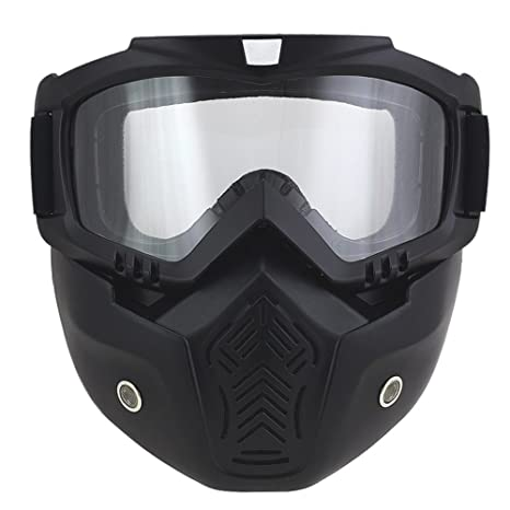 aed642fe82 Anti-Fog Windproof Motorcycle Goggles Riding Detachable Modular Face Mask  Shield Goggles - Protect Padding