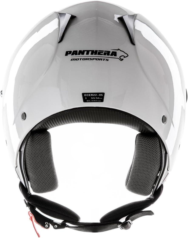 Panthera casque moto full jet Trendy blanc brillant taille XL