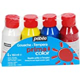 Pébéo 055590 Primacolor Pack de 4 Flacons de 150 ml
