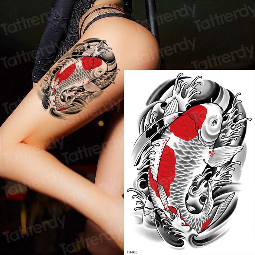 3pcs Tatuajes Animales Cuerpo Cabeza de león Pegatinas Temporal de ...