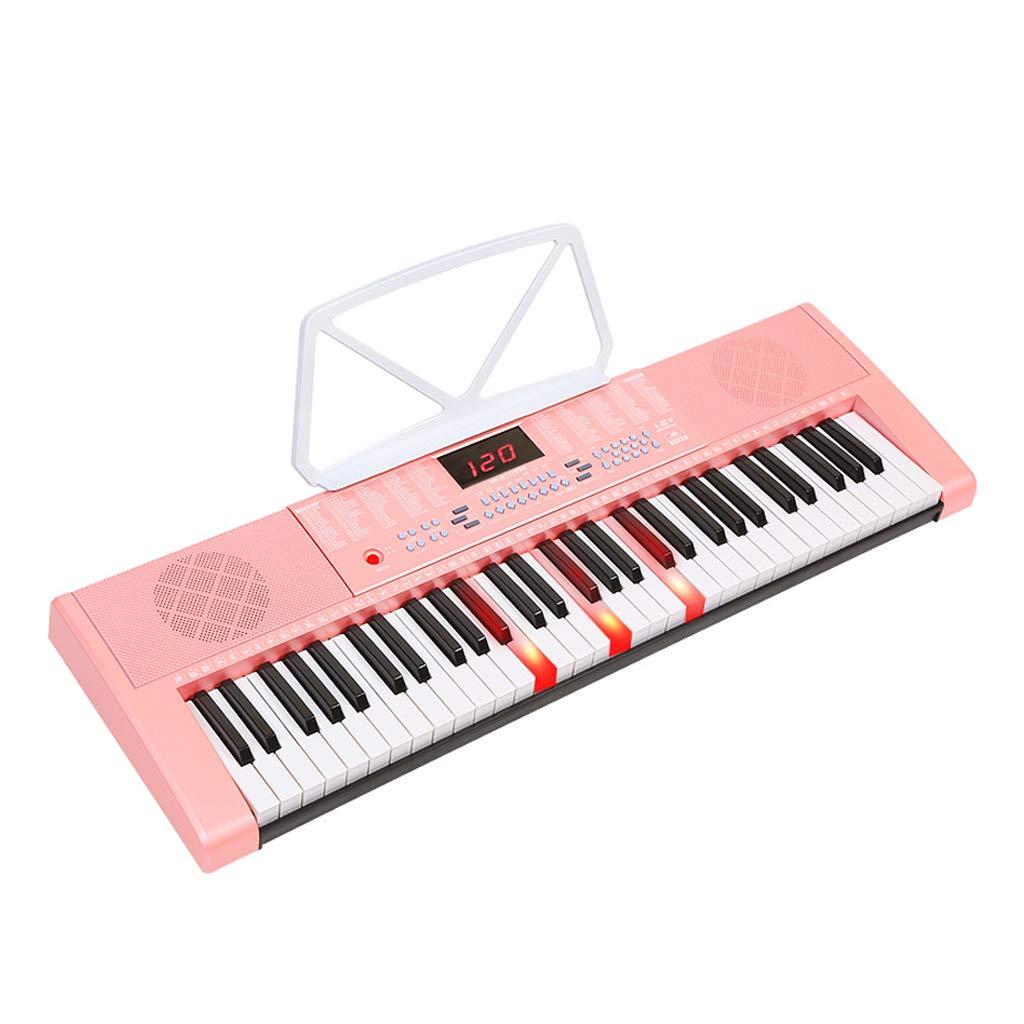 C LINGLING-Tastatur Keyboard 61 Piano Keys Erwachsene Kinder Anfänger Eintrag Multifunktions (Farbe   C)