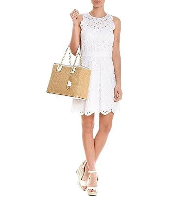 Michael Kors Vestito Donna MS68W5J49Y100 Cotone Bianco  Amazon.it   Abbigliamento 31b12173d26