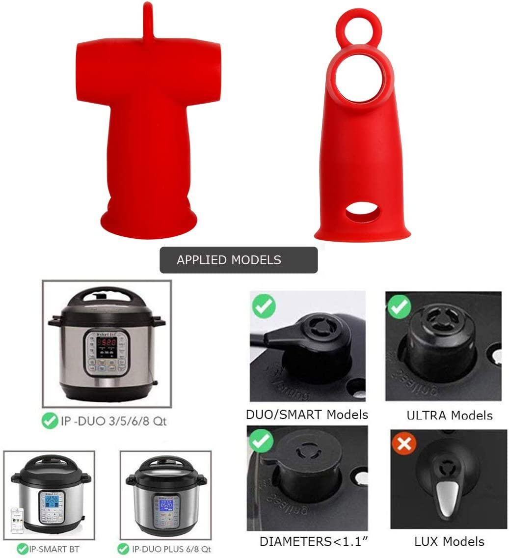 Silicone Steam Release Diverter Compatible with Instant Pot Accessories 3//5//6//8 Quart for Insta Pot Pressure Cooker Duo//Duo Plus//Smart//Ultra Models by Vnray Grey)