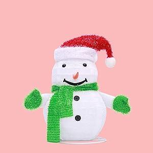 Fantasyworld muñeca 60cm telescópica con la luz casero Plegable Decoraciones de Navidad Año niños Decoración por la Ventana Juguete