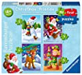 Ravensburger My First Puzzle, Christmas Friends (2, 3, 4 & 5pc) Jigsaw Puzzles [6854]