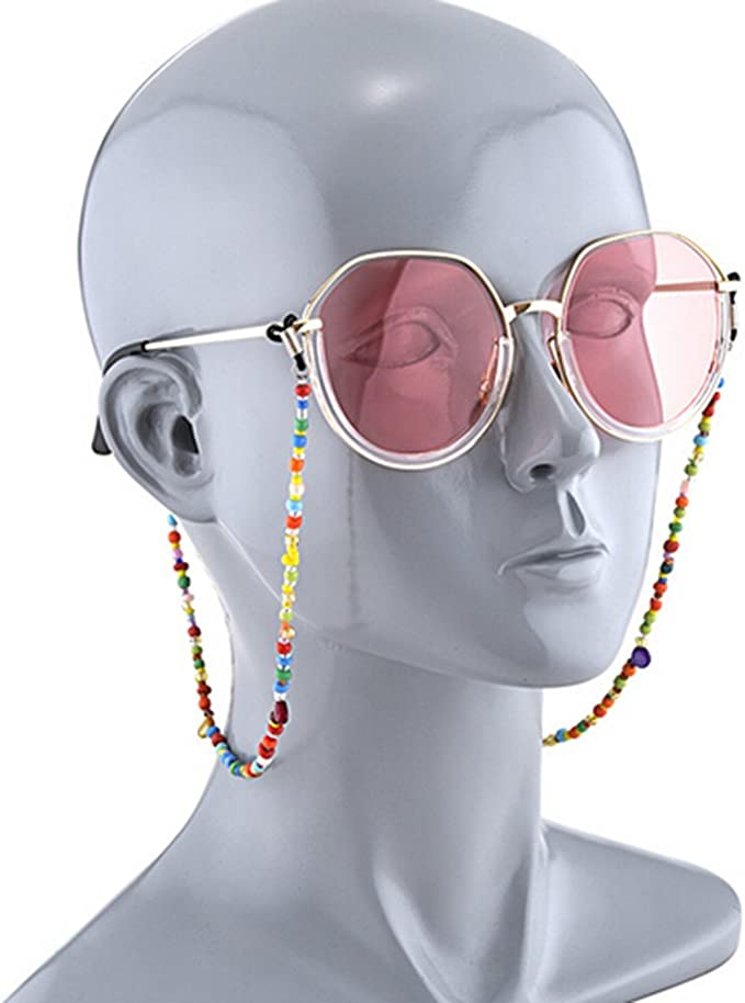 EXTRA LIGHTWEIGHT /& STRONG FEMALE GLASSES SUNGLASSES RETAINER COLOURED BEADS