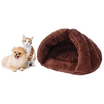 Gowind6 Cama para Mascotas, Gatos, Perros, Cachorros, Cuevas, Mascotas, colchoneta de Dormir, cojín de Igloo Nest cálido: Amazon.es: Productos para mascotas