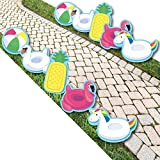 Make A Splash - Pool Party - Pool Floaties Lawn Decorations - Outdoor Summer Swimming Party Or Birthday Party Yard Decorations - 10 Piece