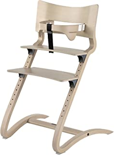 Leander highchair, beech white wash incl. safety bar