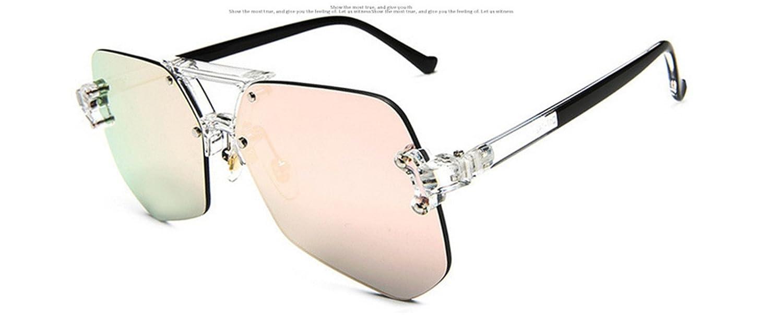 HYP Lunettes de polarisées Lunettes de conduite avec monture en métal Incassable 100% anti UV400 Gris Noir transparent fourmis télévision objectif optique lunettes lunettes fashion, Ice Blue Chip