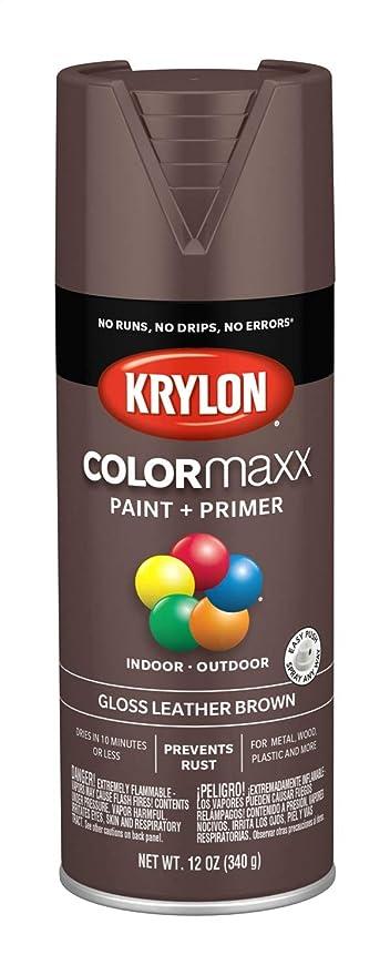 Krylon K05527007 Colormaxx Spray Paint Aerosol Leather Brown