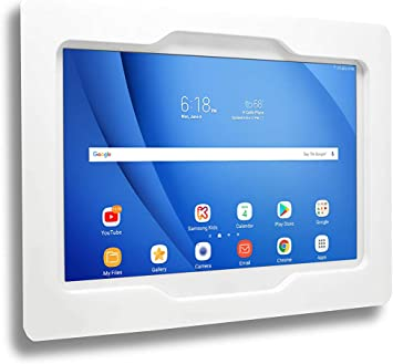 Amazon Com Tabcare Security Anti Theft Acrylic Vesa Enclosure For Amazon Tablet With Free Wall Mount Kit White Fire Hd 10 Office Products