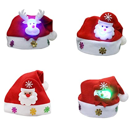 Christmas Party Headwear Hat Headband Festive Santa Snowman Elf Reindeer Xmas Party Cap Gift Children Kid Baby Home & Garden